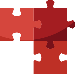 icon of 3 puzzle pieces representing a holistic approach